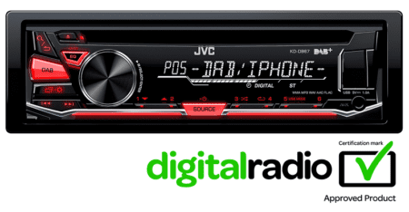 Ράδιο CD MP3 JVC KD-DB67E
