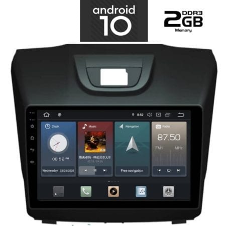 OΘΟΝΗ Multimedia OEM AN X1102_GPS 9 INC ISUZU DMAX mod. 2012>